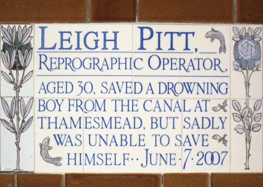 Leigh Pitt Plaque Postman's Park